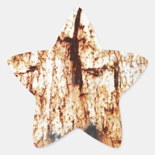 resumen marrón oxidado del humo de la quemadura colcomanias forma de estrellaes