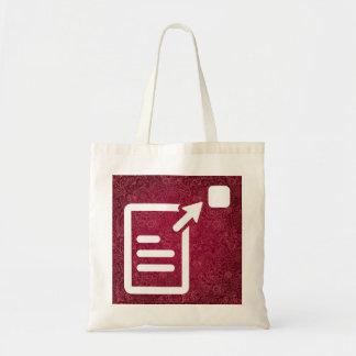 Resumes Icon Budget Tote Bag