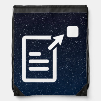 Resumes Icon Cinch Bag