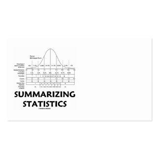 Resumiendo las estadísticas (actitud educativa) tarjetas personales