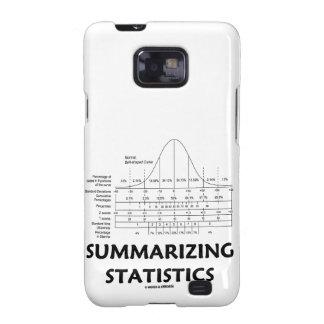 Resumiendo las estadísticas (chuleta estadística) galaxy SII funda