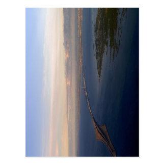 ?resund Bridge from Denmark to Sweden. On the righ Postcard