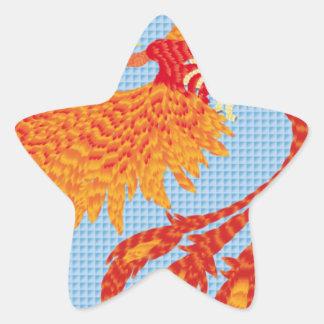 Resurgir del ave fenix calcomanía forma de estrella personalizada