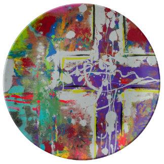 """Resurrección 10,75"""" placa de la porcelana plato de cerámica"""
