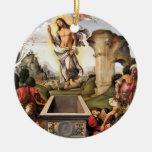 Resurrección de Cristo Adorno Navideño Redondo De Cerámica