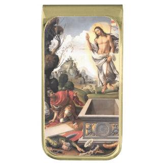 Resurrección de Cristo Clip Para Billetes Dorado