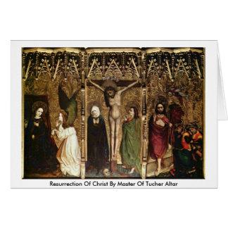 Resurrección de Cristo por el amo del altar de Tarjeta De Felicitación