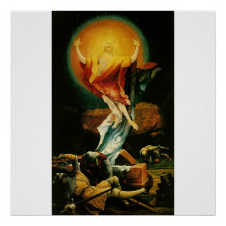 Resurrección de Cristo - poster - fondo blanco