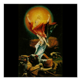 Resurrección de Cristo - poster - fondo negro