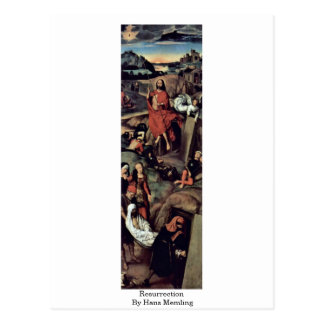 Resurrección de Hans Memling Tarjeta Postal