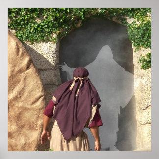 Resurrección de Jesús del arte del poster de Pascu