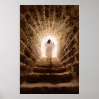 Resurrección de la impresión del Jesucristo Póster