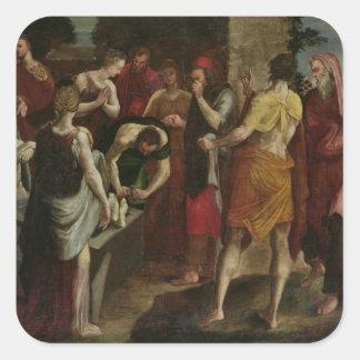 Resurrección de Lazarus 2 Colcomanias Cuadradases