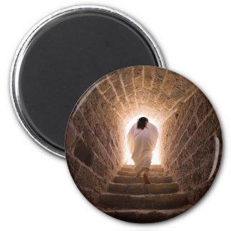 Resurrección de los imanes del Jesucristo Imán Redondo 5 Cm