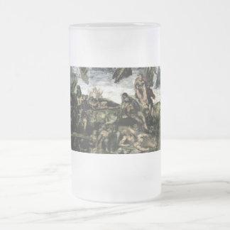 Resurrección de los muertos de los sepulcros taza de cristal