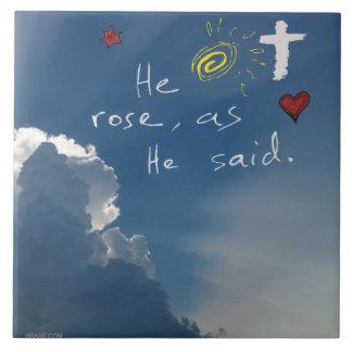 Resurrección de Pascua él es Jesús subido subió
