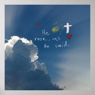 Resurrección de Pascua él es Jesús subido subió Posters