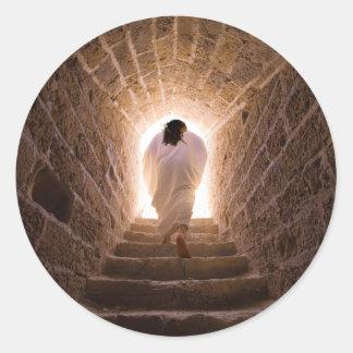 Resurrección del Jesucristo Pegatina Redonda