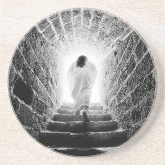 Resurrección del práctico de costa del Jesucristo Posavasos Cerveza
