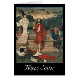 resurrección pascua tarjeta de felicitación