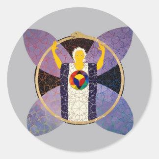 Resurrección Pegatina Redonda