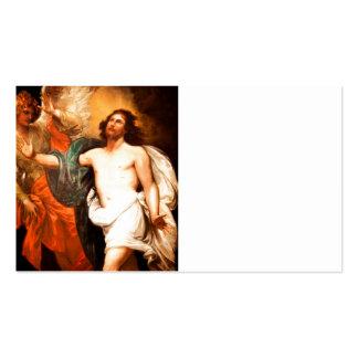 Resurrected Christ Gazing Upward Business Card