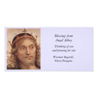 Resurrected Christ in Golden Crown Card