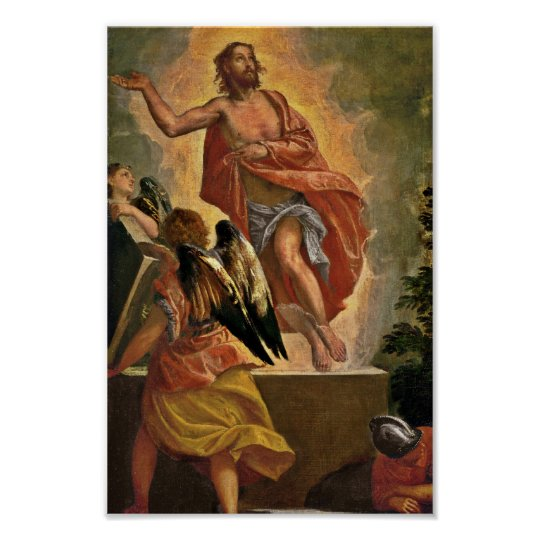Resurrected Jesus Above his Grave Poster