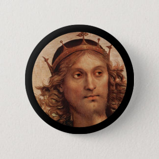Resurrected Jesus in Crown Pinback Button