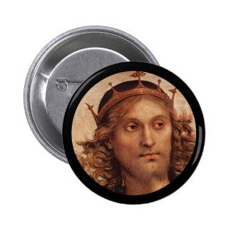 Resurrected Jesus in Crown Pinback Button