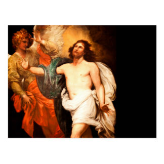 Resurrected Jesus with Angel Postcard