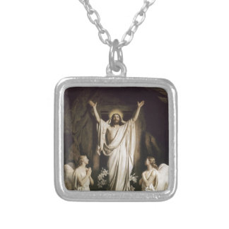 Resurrection at the Tomb Silver Plated Necklace