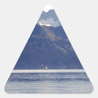 Resurrection Bay Scene Triangle Sticker
