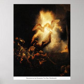 Resurrection by Harmensz Van RijnRembrandt Poster
