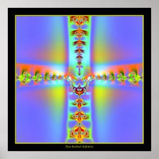 Resurrection Cross Fractal Posters