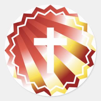 Resurrection: Empty cross Classic Round Sticker