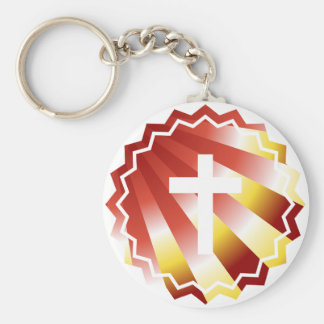 Resurrection: Empty cross Keychain