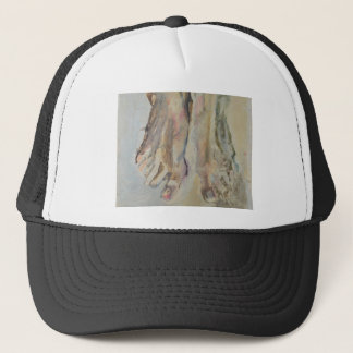 Resurrection - Feet Of Christ Trucker Hat