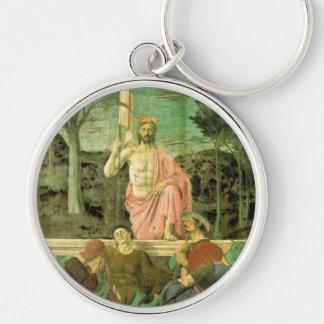 Resurrection Jesus Silver-Colored Round Keychain