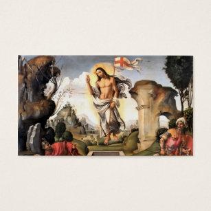 Roman catholic business cards templates zazzle resurrection of christ business card colourmoves