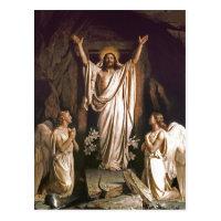 Resurrection of Christ. Fine Art Easter Postcards