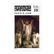 Resurrection of Christ . Fine Art  Postage Stamps
