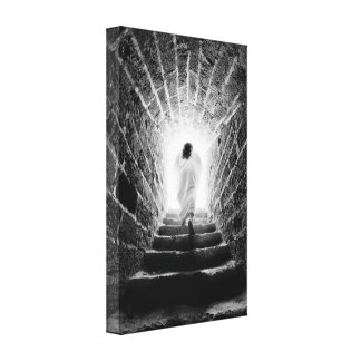 Resurrection of Jesus Christ wrapped canvas print