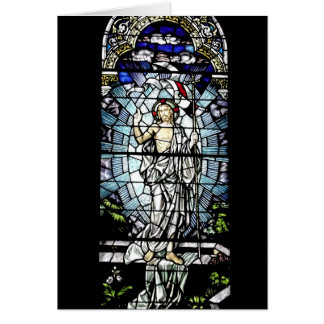 Resurrection of Jesus Stained Glass Window Greeting Card