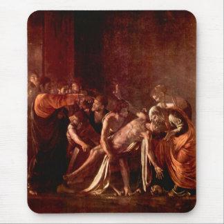 Resurrection of Lazarus by Caravaggio Mouse Pad