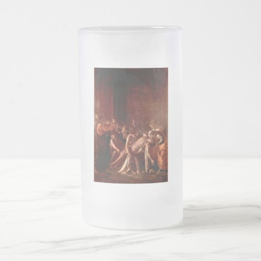 Resurrection of Lazarus by Caravaggio 16 Oz Frosted Glass Beer Mug