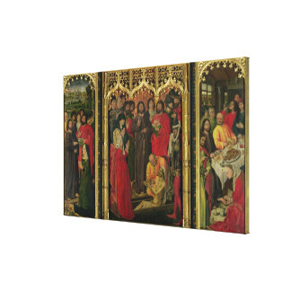 Resurrection of Lazarus Triptych; The Raising of L Canvas Print