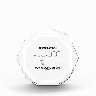 Resveratrol For A Longer Life (Chemical Molecule) Acrylic Award