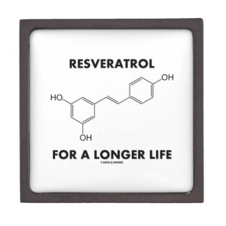 Resveratrol For A Longer Life (Chemical Molecule) Gift Box