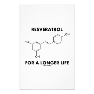 Resveratrol For A Longer Life (Chemical Molecule) Stationery